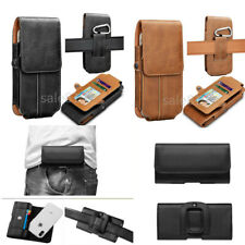 Luxury Waist Belt Clip Leather Pouch Holster Card Wallet pocket Phone Case Cover