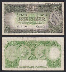 Australia 1 Pound Commonwealth of Australia 1961 (65) BB / VF C-10