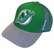 1 DOZEN (12PCS) NHL New Jersey Devils Green Adjustable Mesh Back Hat by Reebok