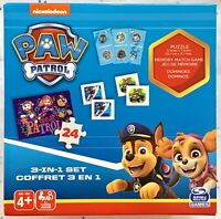PAW PATROL 3 In 1 Game Set, Dominoes, Matching Card Game, & 24 Pc. Jigsaw Puzzle