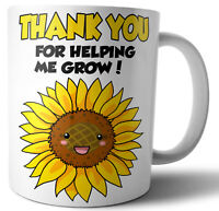 Teacher Teaching Assistant Nursery Nurse Gifts Thank You For Helping Me To Grow