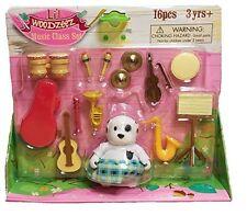 Li'l Woodzeez Music Class Mini Playset 16 Pcs Dog Musician Pretend play Toy Gift
