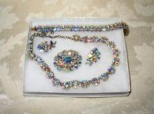Sherman Jewels of Elegance- Signed AB Bracelet, Necklace, Brooch & Earrings