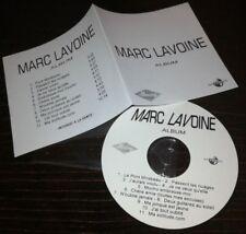 MARC LAVOINE CD PROMO 11 TITRES ALBUM INCLUS DUO FRANCOISE HARDY CLAIRE KEIM....