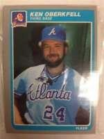1985 Fleer Atlanta Braves Team Set 26 Cards MINT