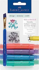 FABER CASTELL MIX & MATCH GELATOS COLORS & CLEAR STAMP ~METALLIC