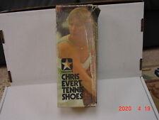 Vintage Converse Chris Evert Women's  Size 5 1/2 White & Lt. Blue Dead Stock NEW
