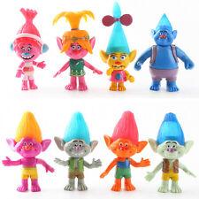 DreamWorks Movie Trolls Action Figures Toys Poppy Branch 8 Pcs / Set Kids Gifts