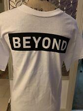 New BEYOND Clothing T Shirt White Black Modern Tee Size Large