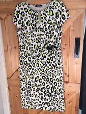 Gorgeous Dress By Moda At George Size 18 White Vibrant Yellow & Black Pattern