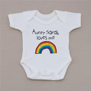 PERSONALISED unisex baby clothing rainbow vest babygrow baby shower RAINBOW BABY