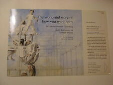 The Wonderful Story of How You Were Born, Sidonie Gruenberg, Dust Jacket Only