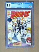 Brigade # 1 CGC 9.8 NM/MT 1st appearance of Genocide. Trading cards included