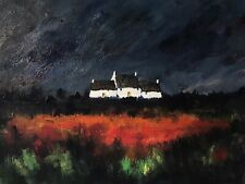 More details for original painting  acrylic on canvas 40x30cm 'welsh cottage'