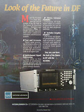 10/1991 PUB WATKINS JOHNSON ELECTRONICS WJ-8986 DIRECTION FINDER ORIGINAL AD
