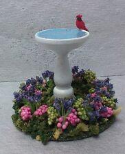 Dollhouse Miniature Handcrafted White Bird Bath - Bird flowers garden fill base