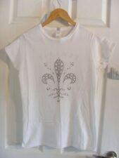 ladies beaded gildan firenze  t shirt,size ladies large,summer/holidays