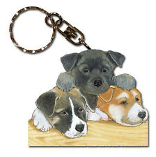 Akita Wooden Dog Breed Keychain Key Ring