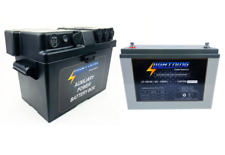 LIGHTNING Battery & Power Box Pack - 12V 120AH Deep Cycle AGM Battery & Auxiliar