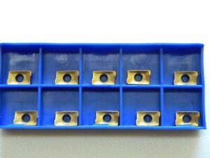 Fräsplatte APKT 1003 PDR TIN beschichtet für Stahl.