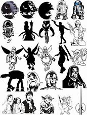 95 Star Wars Vector Clipart for Vinyl Cutter