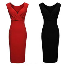 Red + Black Empireline Bodycon sleeveless Dress Size 8 10 12 14 Sexy Dresses
