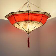 Orientalische Lampe Marokkanische Hennalampe Hängeleuchte Leder Leuchte LHR-NR