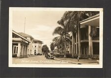 REAL-PHOTO POSTCARD:  STREET SCENE - CRISTOBAL, CANAL ZONE, PANAMA - Unused