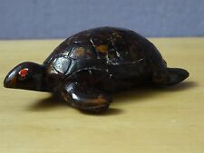 bakelite pencil sharpener Turtle figurine rare ! one of its leg glued ! signed