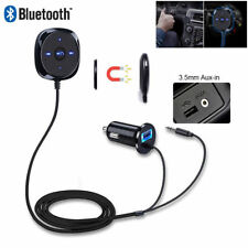 Car Bluetooth Audio Music Receiver Kit 3.5mm Adapter USB Charger AUX bs02