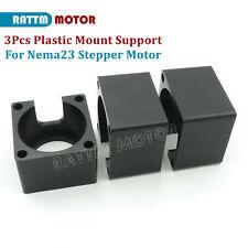 3pcs Plastic Bracket Mount Clamp Support For Cnc Nema23 57mm Stepper Motor