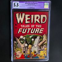 WEIRD TALES OF THE FUTURE #2 (1952) 💥 CGC 5.5 Restored 💥 Classic Cover! Aragon