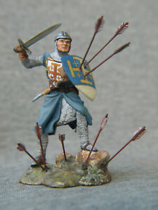 Knight Of The Kingdom Of Jerusalem. Elite tin soldier SCALE: 1/32 54 mm