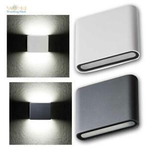 SMD LED Wand-Außenleuchte GARTO, IP54 Alu, Slim Außen-Wand-Lampe Alu 230V