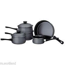 5pc Plata Belly Pan Set Antiadherente De Acero Al Carbono Asas De Baquelita