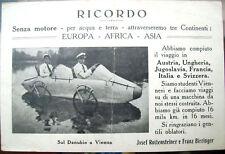 1920 CARTOLINA PIONIERISMO AUTOMOBILISTICO SENZA MOTORE