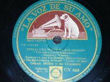 JAZZ 78 rpm RECORD VsA GLENN MILLER Tengo una novia en kalamazoo / Serenata...
