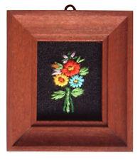 Casa De Muñecas Hecho a mano en miniatura de los años ochenta Bordado imagen oscuras marco Flor Mix 1