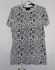 UK S COSMIC Clothing Graphic T-Shirt Black and White Very Good condition (52)