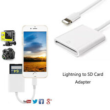 For iPad iPhone X 7 8 Plus Lighnting 8pin to SD Card Readers Camera Converter AU