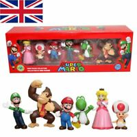 6pcs Super Mario Bros.4 Series Game Action Figure Doll Toy Cake Topper Xmas Gift