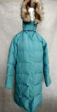L.L. Bean M Blue Long Goose Down Puffer Parka Coat