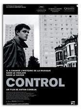 Affiche 120x160cm CONTROL (2007) Anton Corbijn. Sam Riley, Biopic Joy Division #