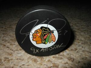 Jeremy Roenick Autographed Chicago Blackhawks Puck ! 9 x All Star ! BAS W