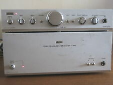 TOSHIBA AUREX SC-M12 SY C12 PRE POWER AMPLIFIER A CLASSIC WORKS NEEDS ATTENTION
