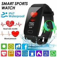 Blood Pressure Oxygen Heart Rate Sport Fitness Smart Watch Wrist Band Bracelet 1