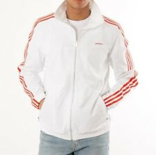 MED adidas Originals Beckenbauer Windbreaker Modern Top Jacket Red /White  LAST1