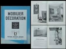 MOBILIER ET DECORATION N°4 1939 RENE DROUET, JACQUES DUMOND, COLLAMARINI