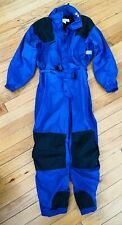 Columbia Insulated One Piece Snow Ski Suit Mens Vintage Snow L Large Blue Black