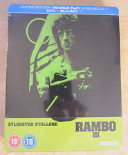 Rambo III 3 Blu-Ray Steelbook [UK] Region B Sylvestor Stallone Sealed Action War